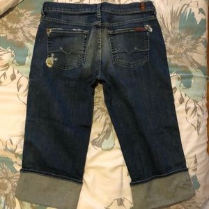 7 for all mankind jeans crop boy cut